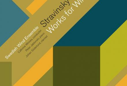 Skivomslag Stravinsky - Works for winds